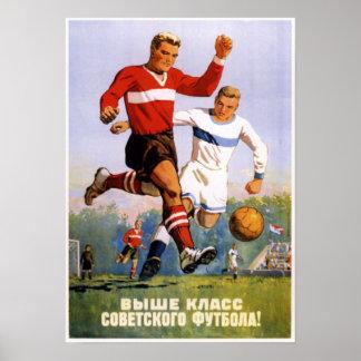USSR Soviet Soccer Propaganda 1954 Poster