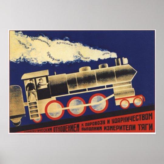 USSR Soviet Union 1924 Railroad Poster