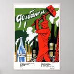 USSR Soviet Union Anti-Alcohol 1930 Poster