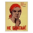 USSR Soviet Union Do Not Gossip! Propaganda 1941 Poster