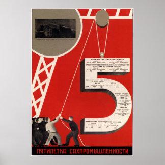 USSR Soviet Union Propaganda 1933 Poster