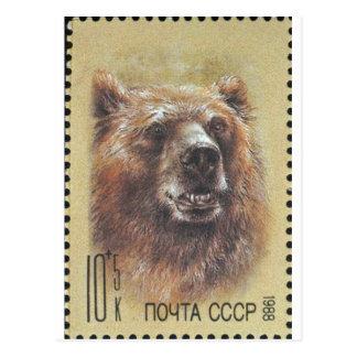 USSR ~ Stamp  Russian Bear Postcard
