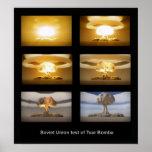 USSR Tsar Bomba nuclear test poster
