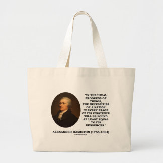 Usual Progress Of Things Necessities Of A Nation Canvas Bag