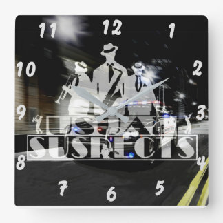 Usual Suspects Band Wall Clock