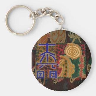 USUI REIKI symbols Basic Round Button Key Ring