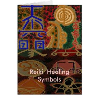 USUI REIKI symbols Greeting Card