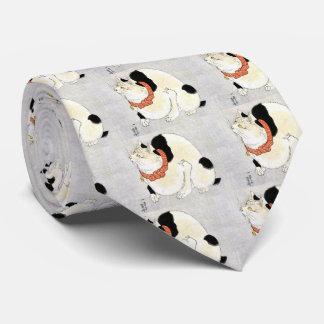Utagawa country 芳 'cat of murine avoiding', tie
