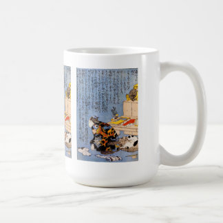 Utagawa country 芳, self-portrait basic white mug