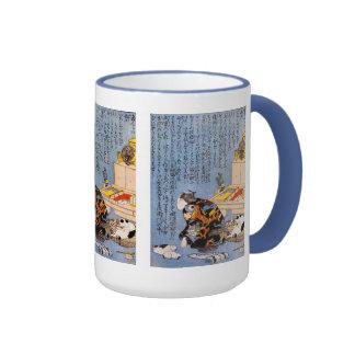 Utagawa country 芳, self-portrait ringer mug