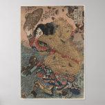 Utagawa Kuniyoshi - Kinhyoshi Yorin woodcut print