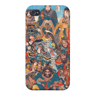 Utagawa Kuniyoshi Legendary Suikoden heroes iPhone 4 Covers