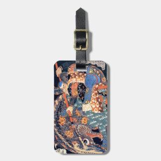 Utagawa Kuniyoshi Miyamoto Killing Nue Ukiyo-e Luggage Tag