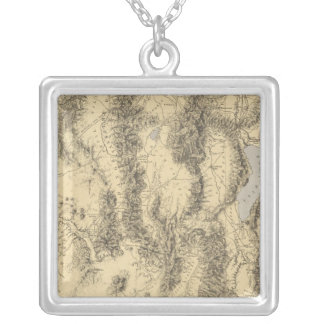 Utah 2 silver plated necklace