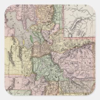 Utah 3 square sticker