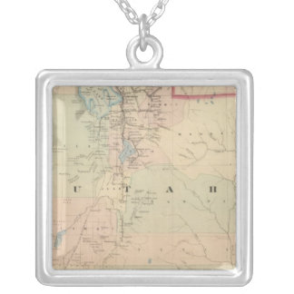 Utah 5 silver plated necklace