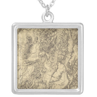 Utah 7 silver plated necklace