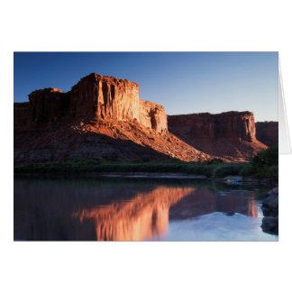 Utah, A mesa reflecting in the Colorado River 1 Card