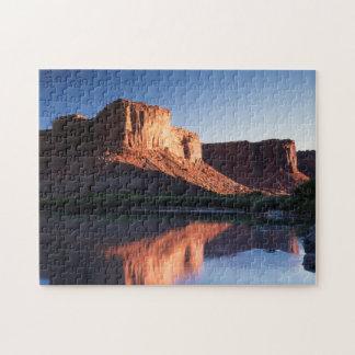 Utah, A mesa reflecting in the Colorado River 1 Jigsaw Puzzle