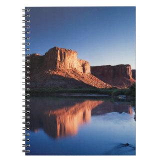 Utah, A mesa reflecting in the Colorado River 1 Notebook