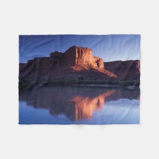Utah, A mesa reflecting in the Colorado River 2 Fleece Blanket