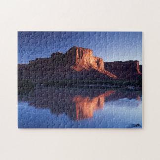 Utah, A mesa reflecting in the Colorado River 2 Jigsaw Puzzle