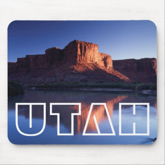 Utah, A mesa reflecting in the Colorado River 2 Mouse Mat