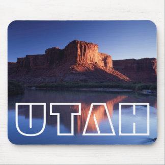 Utah, A mesa reflecting in the Colorado River 2 Mouse Mat