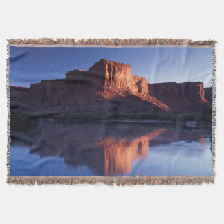 Utah, A mesa reflecting in the Colorado River 2 Throw Blanket