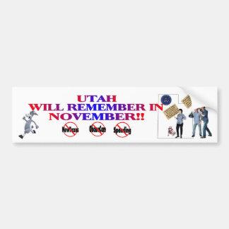 Utah - Anti ObamaCare, New Taxes & Spending Bumper Sticker