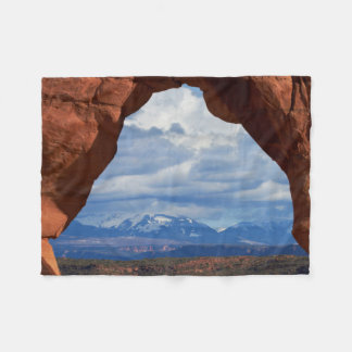 Utah, Arches National Park, Delicate Arch Fleece Blanket