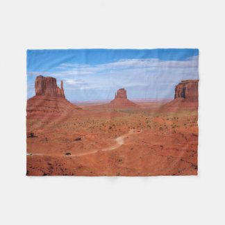 Utah. Arizona Border, Navajo Nation, Monument Fleece Blanket