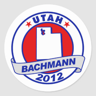 Utah Bachmann Round Stickers
