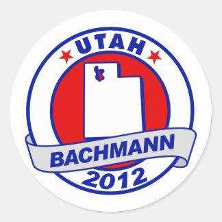 Utah Bachmann Round Stickers