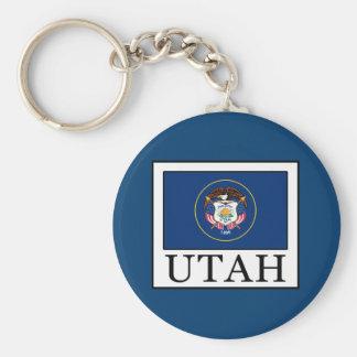 Utah Basic Round Button Key Ring