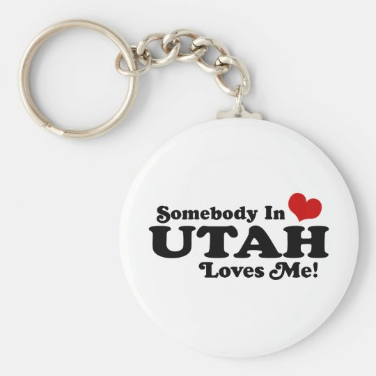 Utah Basic Round Button Key Ring