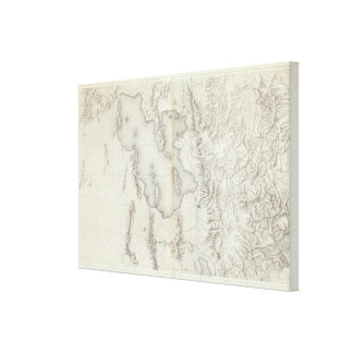 Utah Basin Topographical Canvas Print