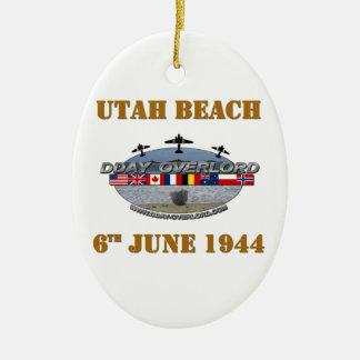 Utah Beach 6th June 1944 Ceramic Oval Decoration