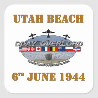 Utah Beach 6th June 1944 Square Sticker