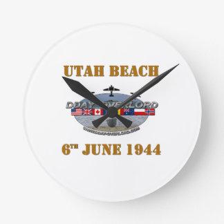 Utah Beach 6th June 1944 Wallclock