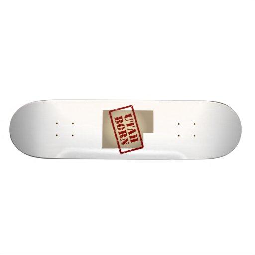 Utah Born - Stamp on Map Custom Skateboard
