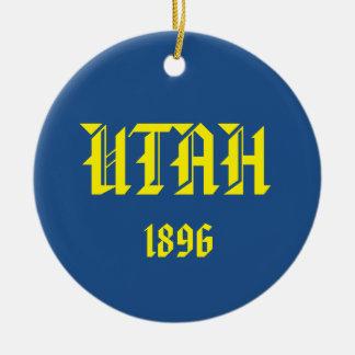 Utah* Ceramic Christmas Ornament