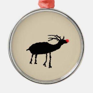 Utah Elk Petroglyph Christmas Ornament