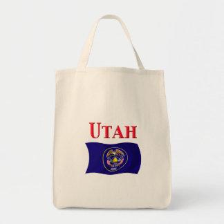 Utah Flag Canvas Bags