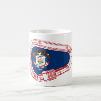 Utah Flag Climbing Carabiner Coffee Mug