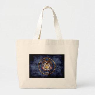 Utah Flag Rustic Design Tote Bag