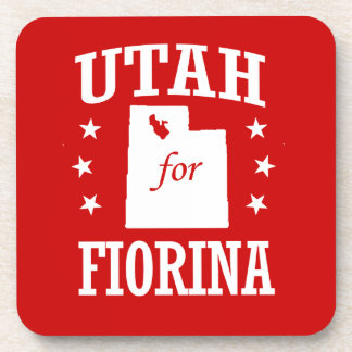 UTAH FOR FIORINA BEVERAGE COASTERS