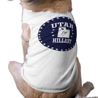 UTAH FOR HILLARY SLEEVELESS DOG SHIRT