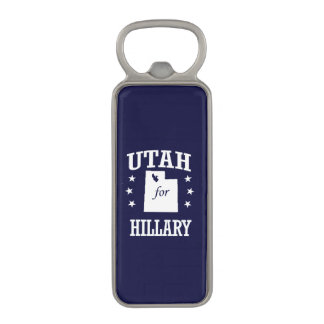 UTAH FOR HILLARY MAGNETIC BOTTLE OPENER