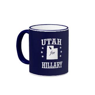 UTAH FOR HILLARY RINGER MUG